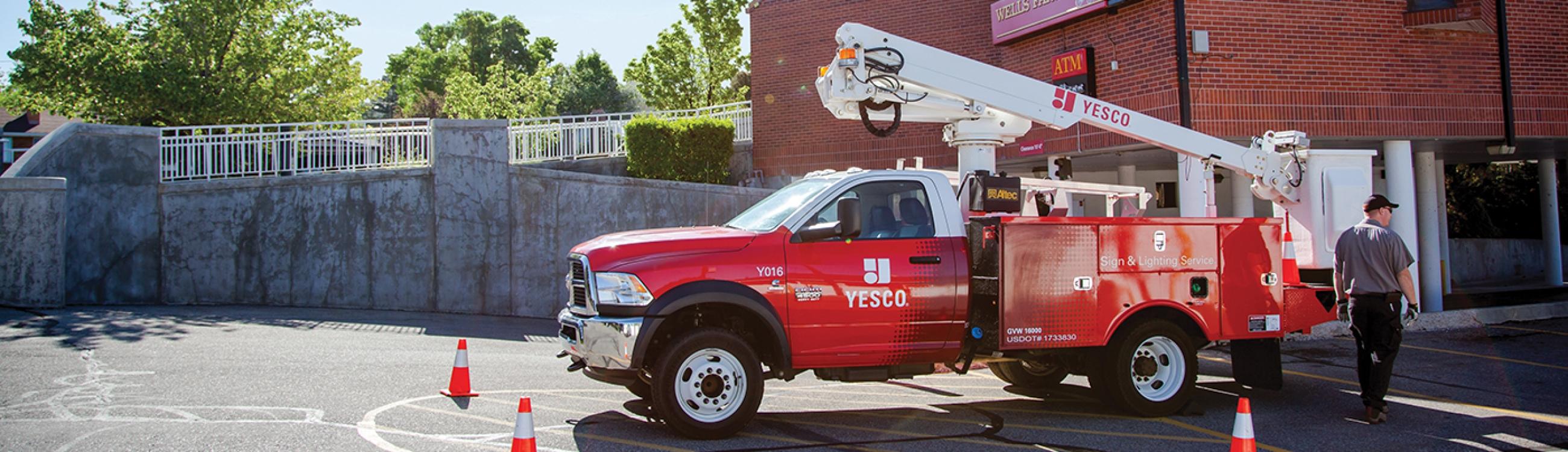 Sign  Lighting Repair Calgary YESCO - Exterior sign lighting