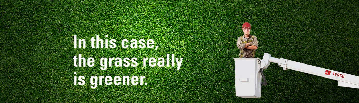 In this case, the grass really is greener.