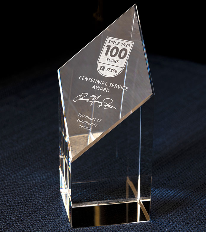 YESCO 100 Hour Service Award