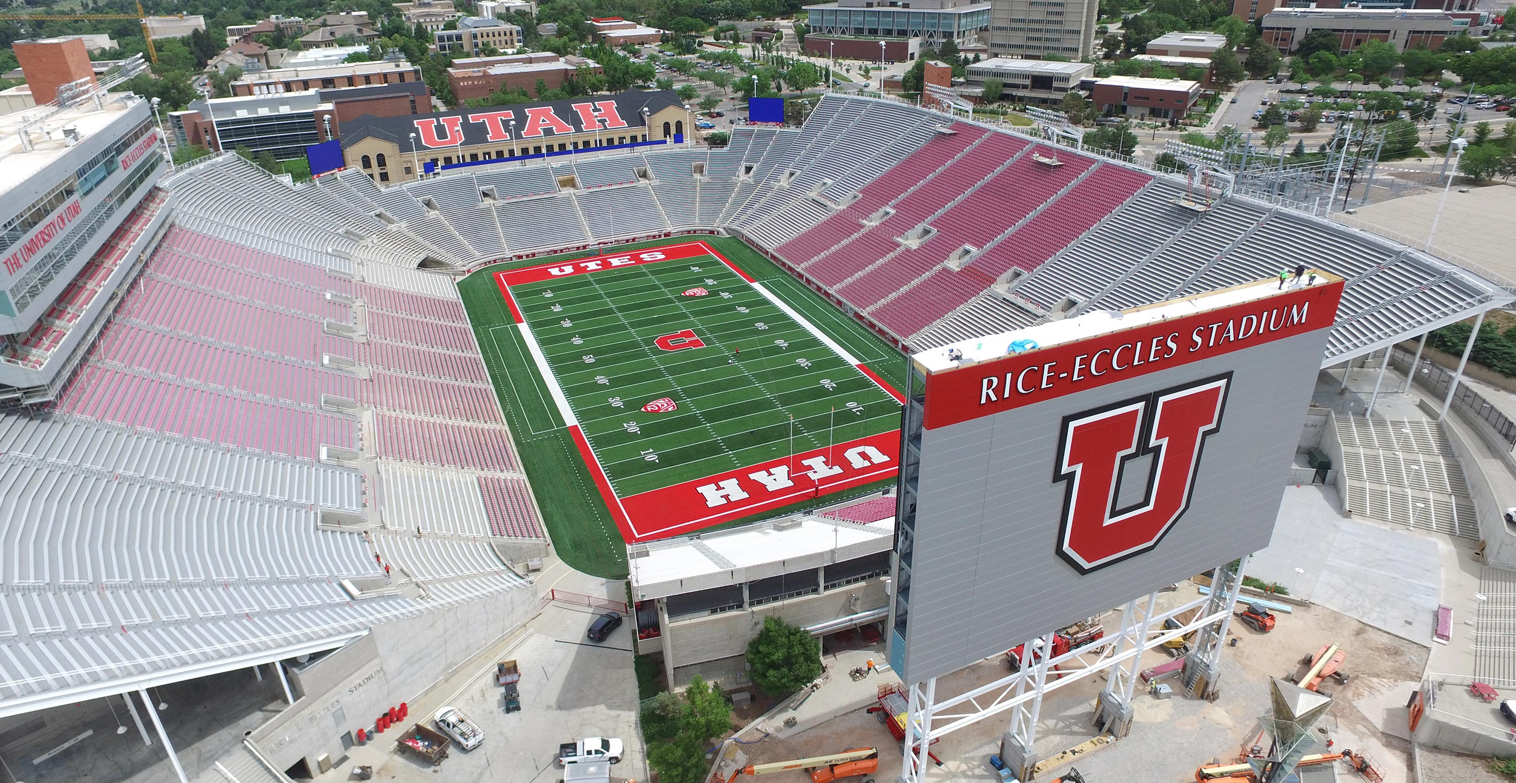 Rice-Eccles Scoreboard