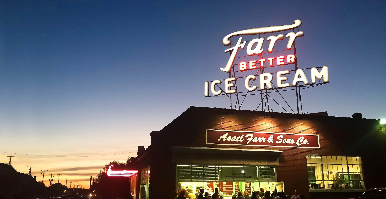 Farr Better Ice Cream Custom Sign