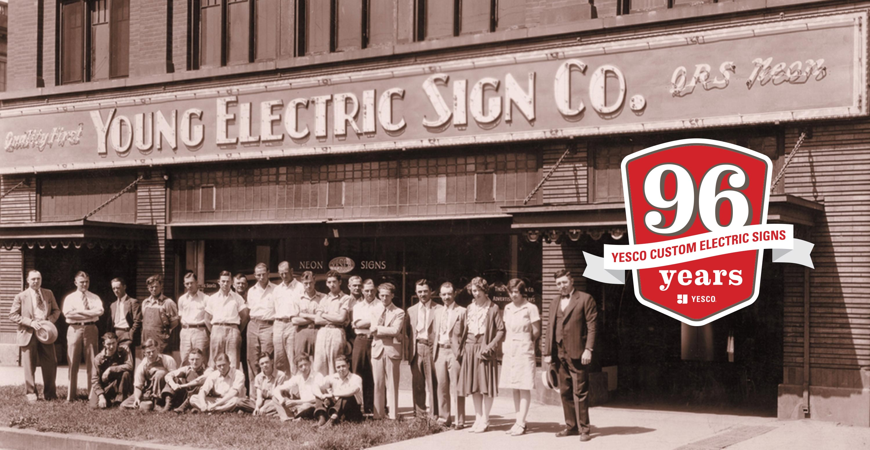 YESCO 96 Years Custom Electric Signs