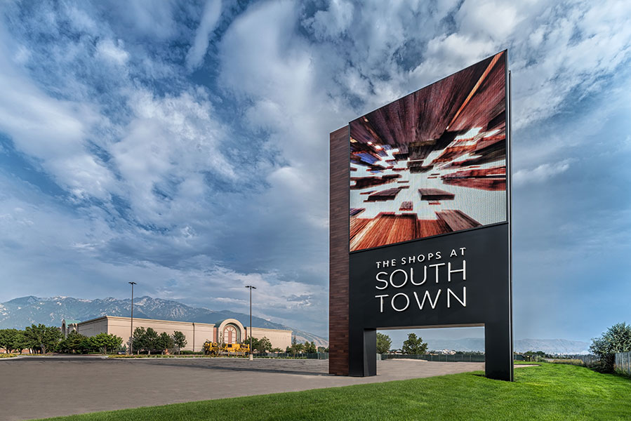 Shops at South Town Sign