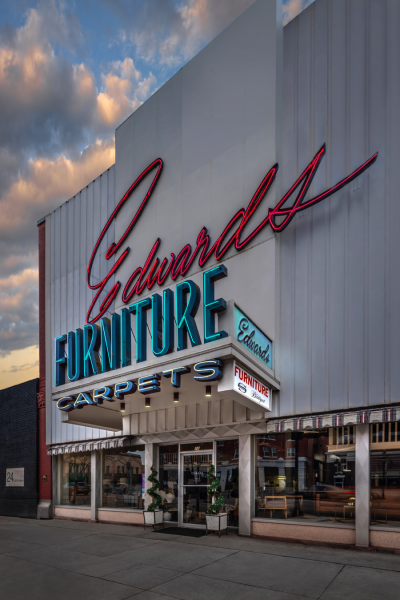 Last Look At A Signature Feature Of Downtown Logan Utah Edwards Furniture S Giant Pink Neon Sign Has Been Staple On Main Street For More Than 60 Years